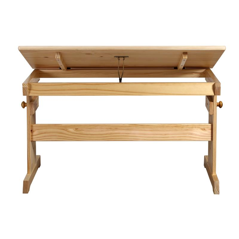 Sixbros bureau pour enfants en bois de pin massif - Bureau enfant pin massif ...