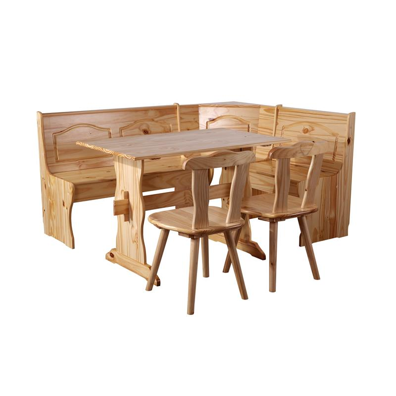sixbros coin de repas rustica en bois de pin massif naturel 2008 ebay. Black Bedroom Furniture Sets. Home Design Ideas