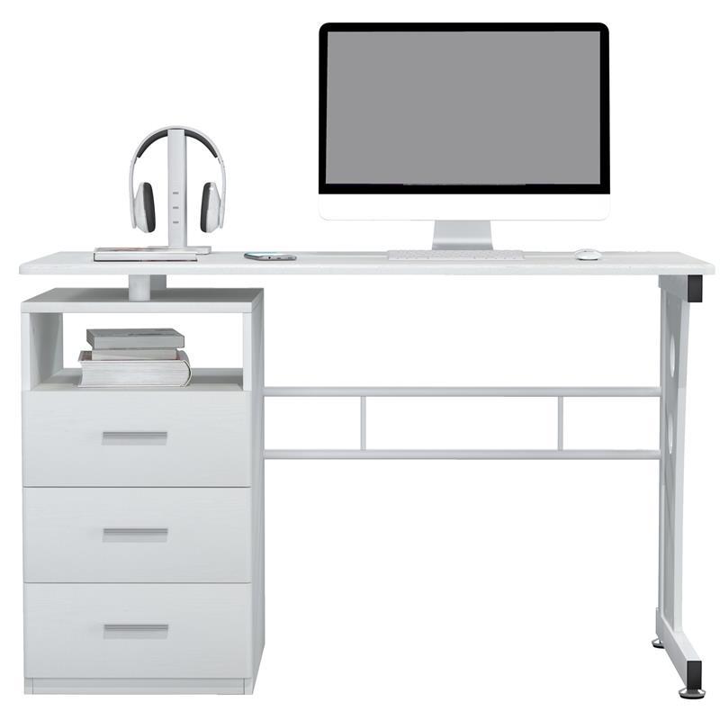 SixBros Computerschreibtisch Tisch PC-Tisch weiß S-352//2073