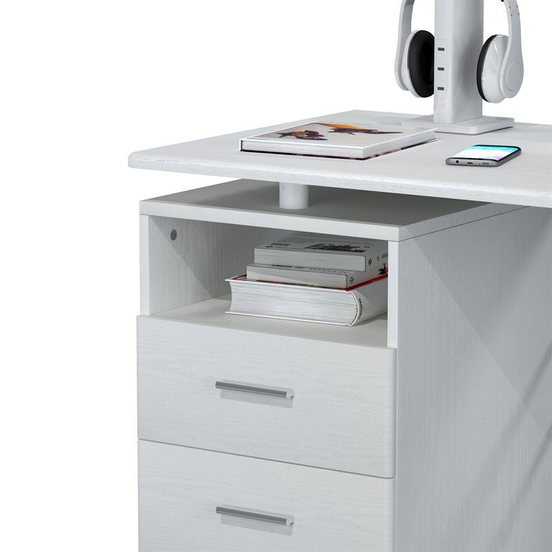 sixbros computerschreibtisch tisch pc tisch wei s 352. Black Bedroom Furniture Sets. Home Design Ideas