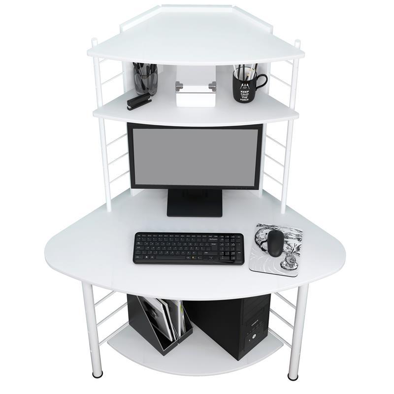 Computerschreibtisch Schreibtisch Eckschreibtisch Weiß B-1010/2076