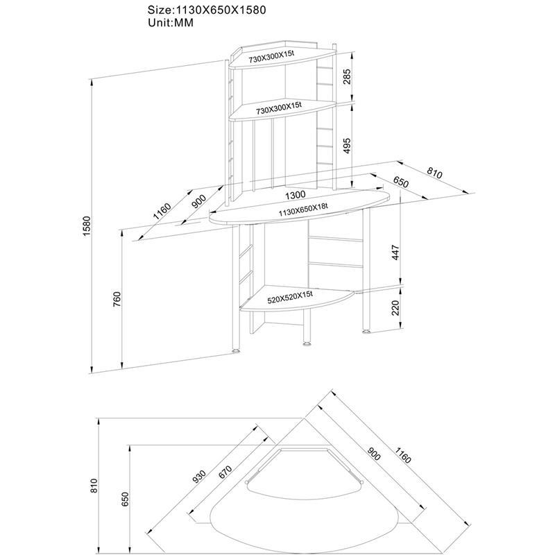 Sixbros scrivania porta pc colore bianco b 1010 2076 ebay - Porta computer bianco ...