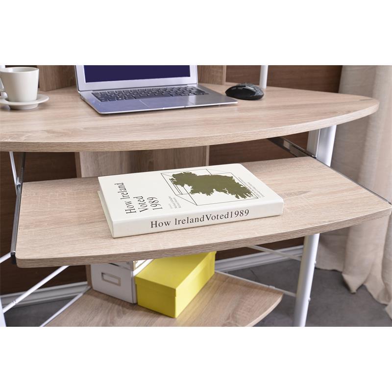 sixbros computertisch ecktisch computerschreibtisch eiche. Black Bedroom Furniture Sets. Home Design Ideas