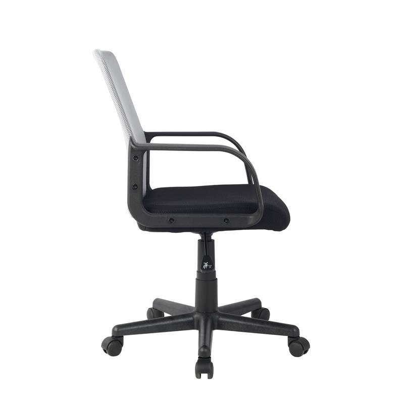 SixBros Bürostuhl Drehstuhl Schreibtischstuhl grau//schwarz HLC-1278-2//2104