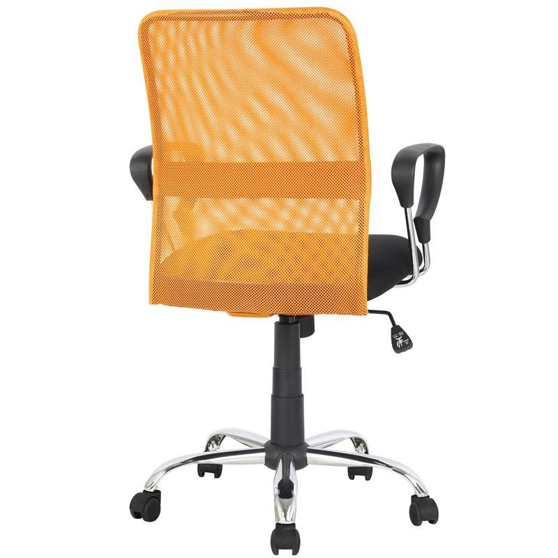 chaise de bureau pivotante orange noir h 8078f 2 2116. Black Bedroom Furniture Sets. Home Design Ideas