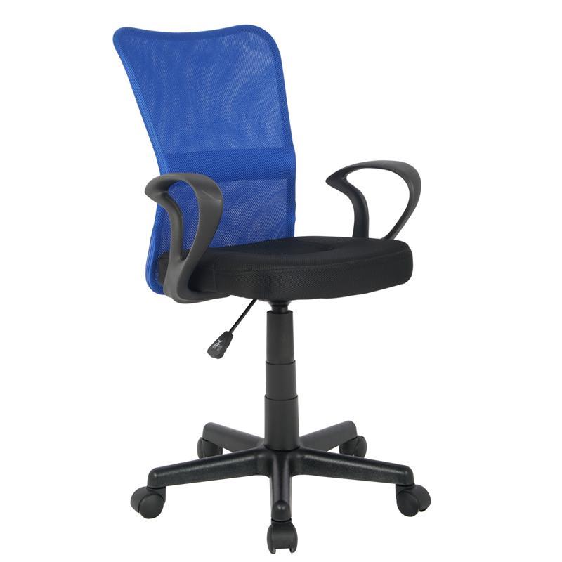 sixbros chaise de bureau rose h-298f