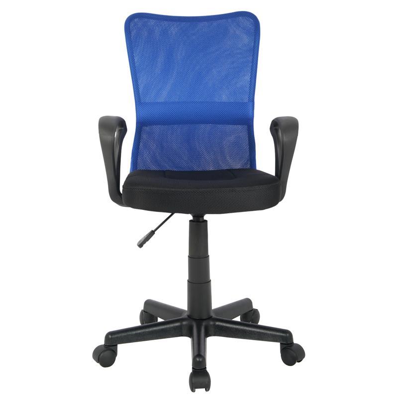 Bürostuhl Drehstuhl Schreibtischstuhl Blau/Schwarz H-298F-2/2120
