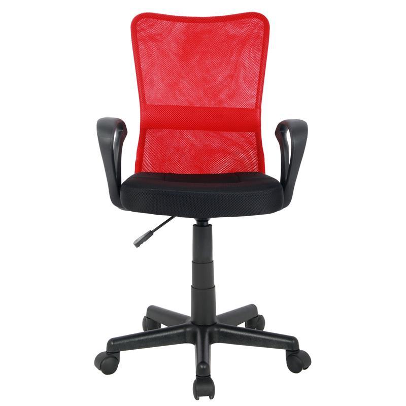 Bürostuhl Drehstuhl Schreibtischstuhl Rot/Schwarz H-298F-2/2121