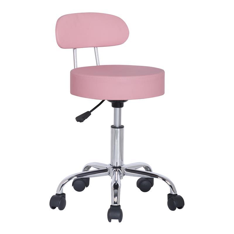 Tabouret à roulettes / de travail rose - M-95027X/2132