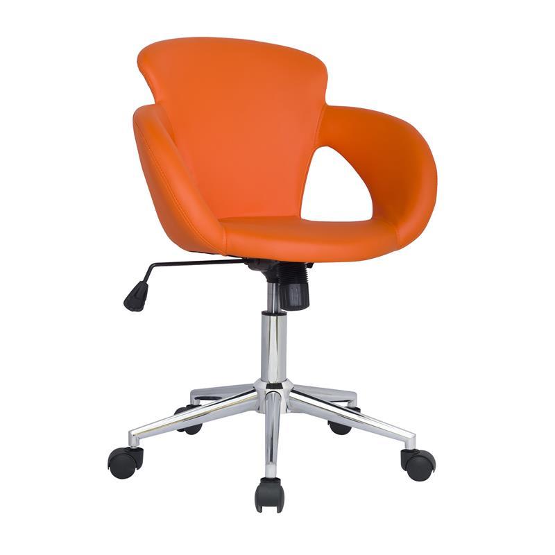 Design sgabello girevole da lavoro sedia da ufficio arancio M-65335-1/2136