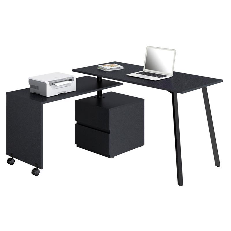 Eckschreibtisch schwarz  Computerschreibtisch Schreibtisch Schwarz CT-3556/2140