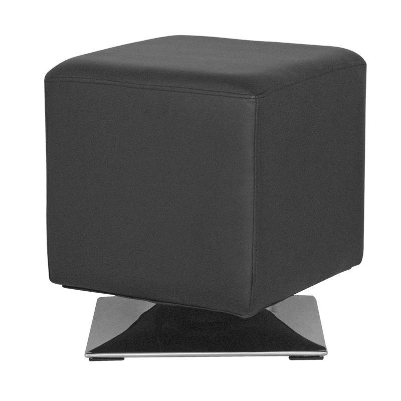 Sitzwürfel Sitzhocker Gepolstert Schwarz M-61352/2144