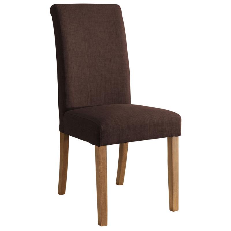 Silla de comedor silla tapizada haya tela marrón oscuro 6018D/2154