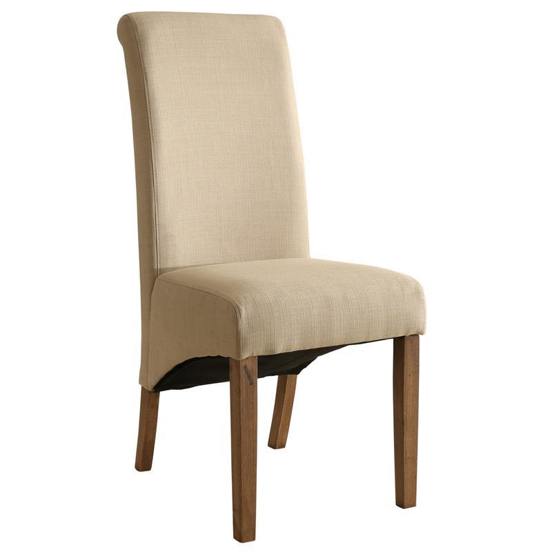 Silla de comedor silla tapizada haya tela beige 6001b 2157 for Sillas comedor color beige