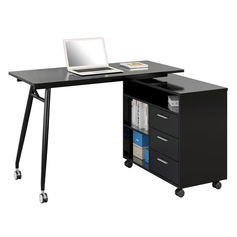 Office Scrivania porta pc nero lucido CT-3366UAM/2179