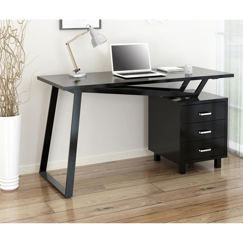 computerschreibtisch schreibtisch hochglanz schwarz ct 3533 2182. Black Bedroom Furniture Sets. Home Design Ideas