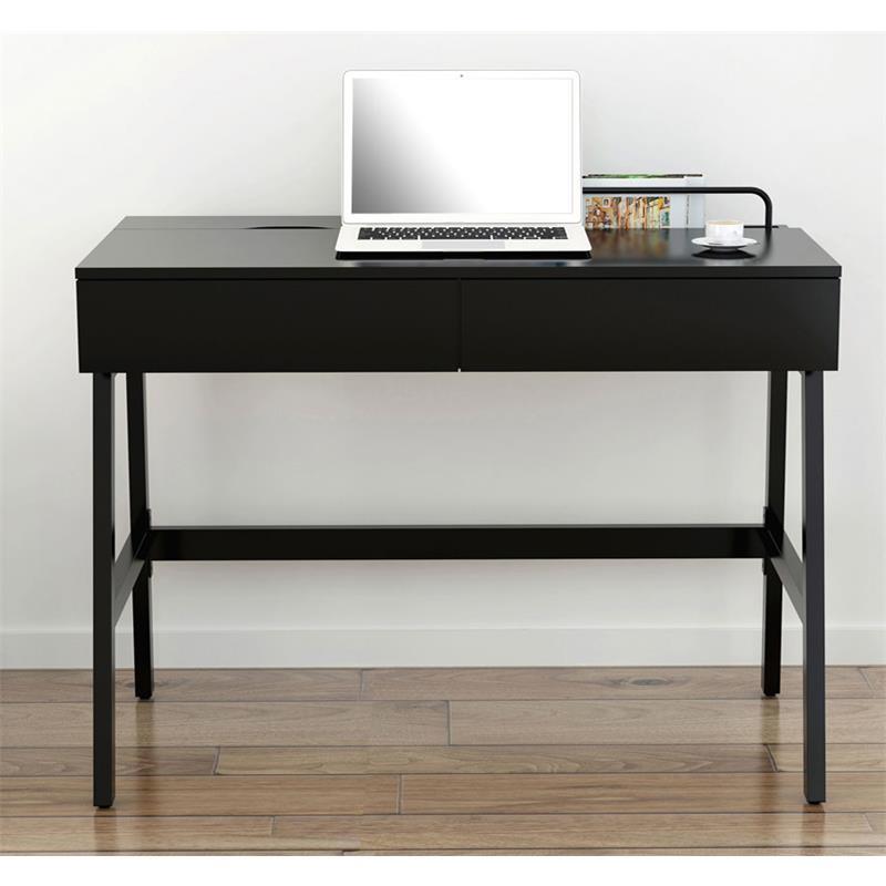 computerschreibtisch schreibtisch hochglanz schwarz ct 3534a 2185. Black Bedroom Furniture Sets. Home Design Ideas