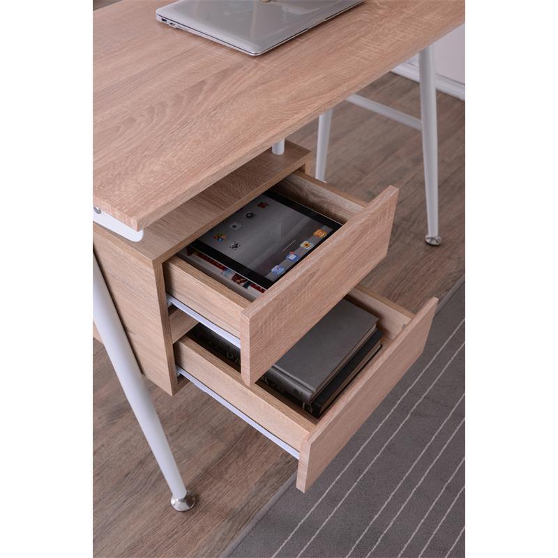 Sixbros mesa de ordenador roble efecto madera ct 3541 - Mesa ordenador madera ...