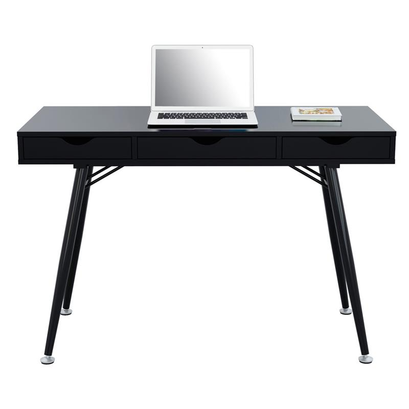 computerschreibtisch schreibtisch hochglanz schwarz ct 3555na 2191. Black Bedroom Furniture Sets. Home Design Ideas