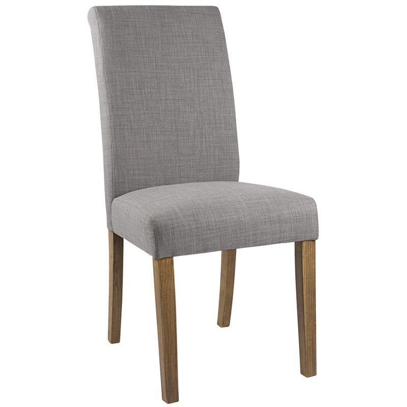 Silla de comedor silla tapizada haya tela gris 6018d 2225 for Sillas de tela comedor