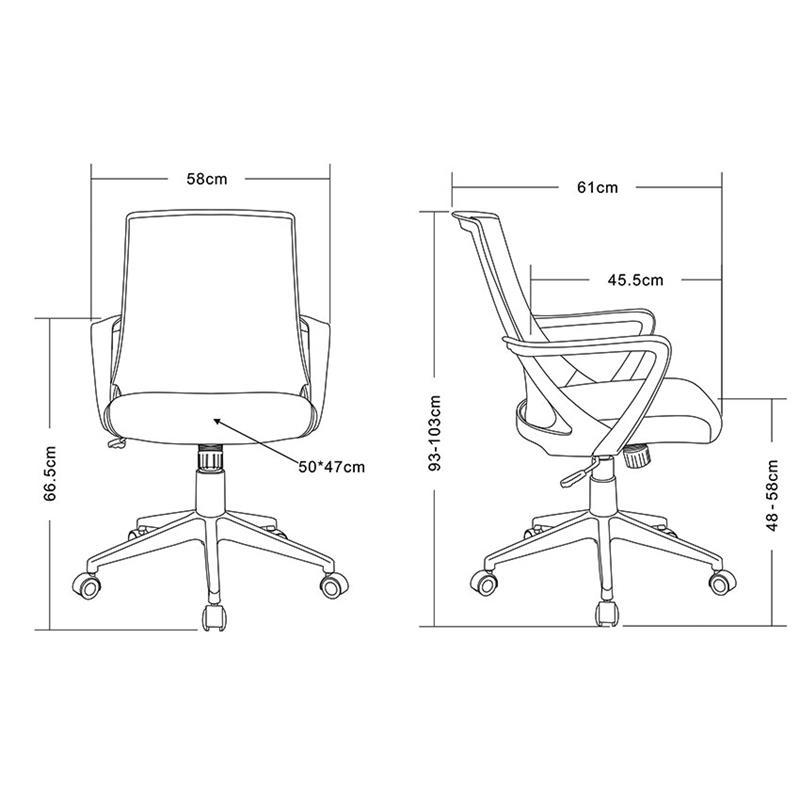 SixBros Bürostuhl Drehtstuhl Schreibtischstuhl Farbwahl 0722M
