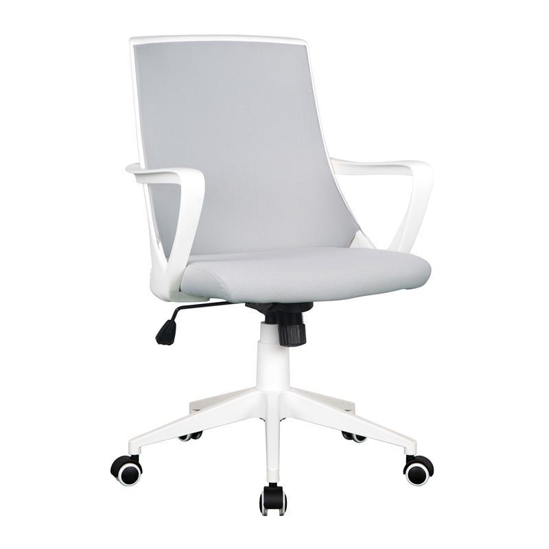 Chaise De Bureau Tissu Gris Blanc 0722M 2240