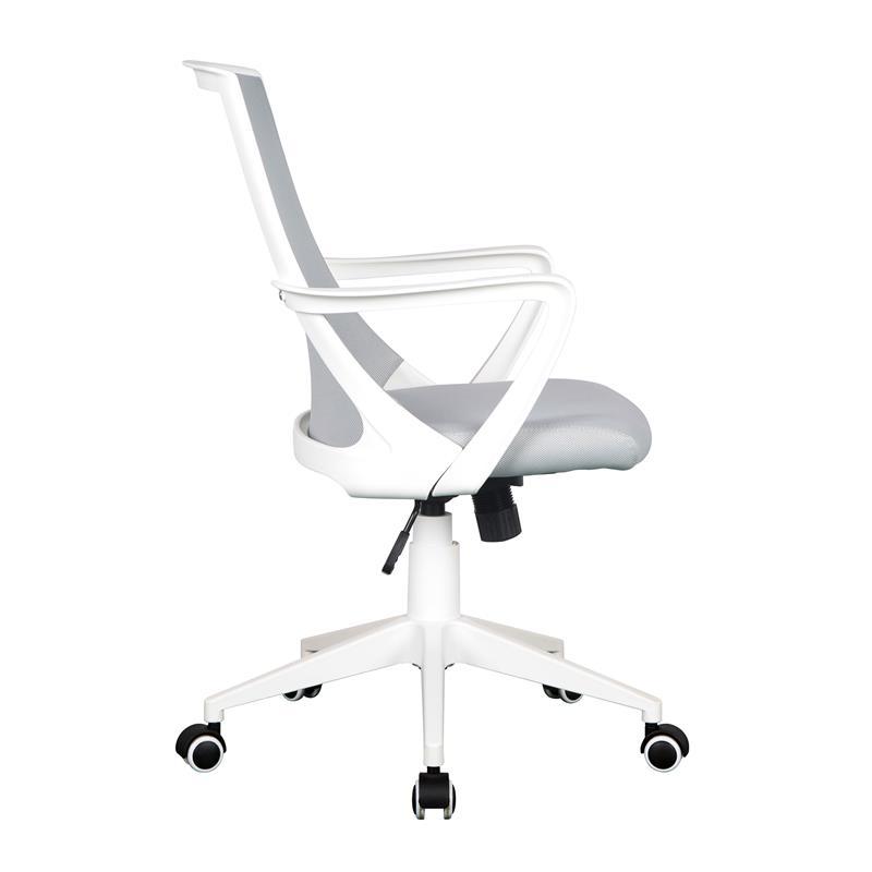 Schreibtischstuhl weiß  Bürostuhl Drehstuhl Schreibtischstuhl Grau/Weiß 0722M/2240