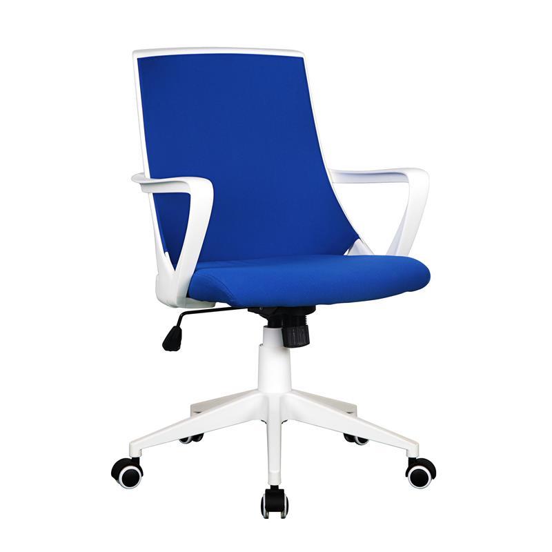 Sixbros poltrona sedia ufficio sedia girevole stoffa blu for Ufficio bianco e blu