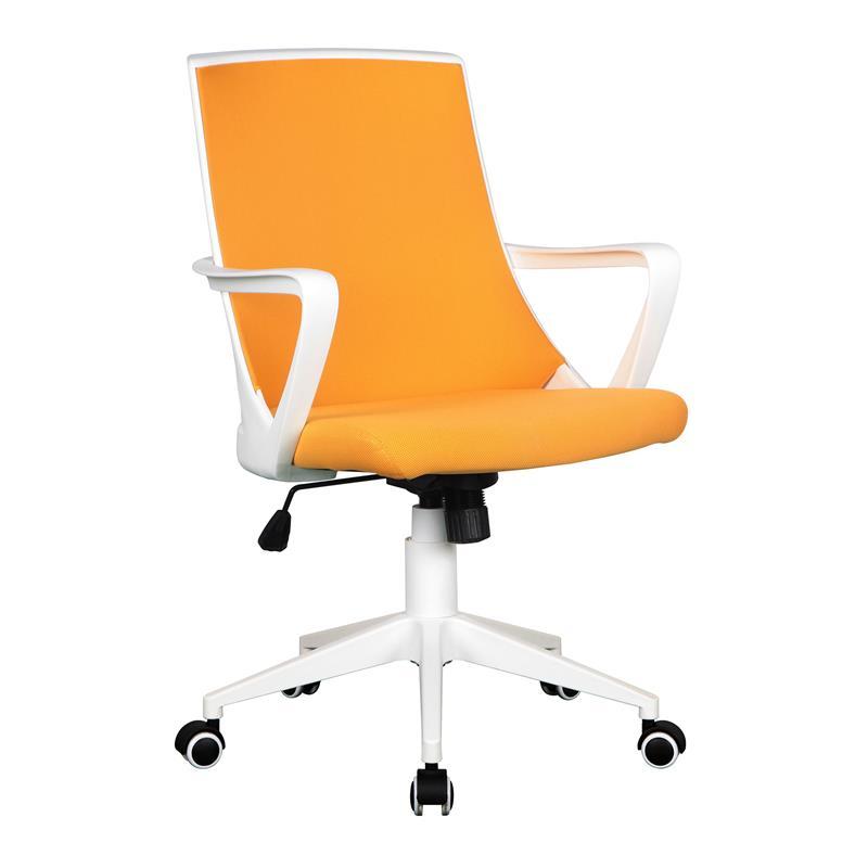 Sixbros silla de oficina silla giratoria tela naranja for Sillas de oficina usadas