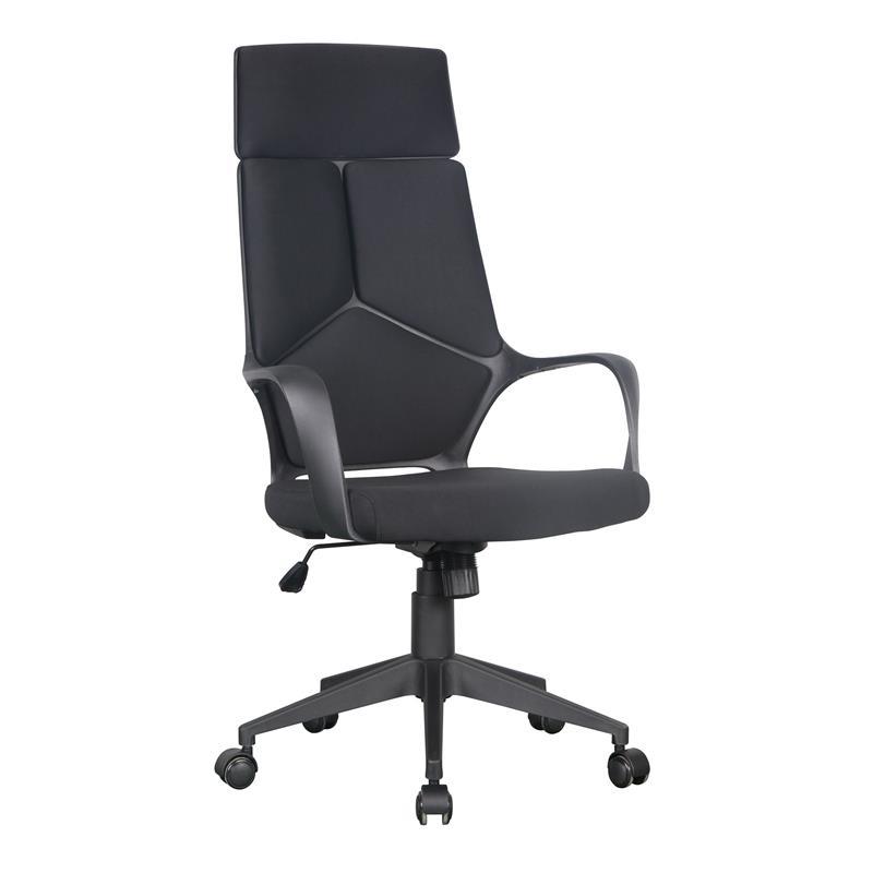 Chaise de bureau tissu noir 0898h 2249 - Chaise tissu noir ...