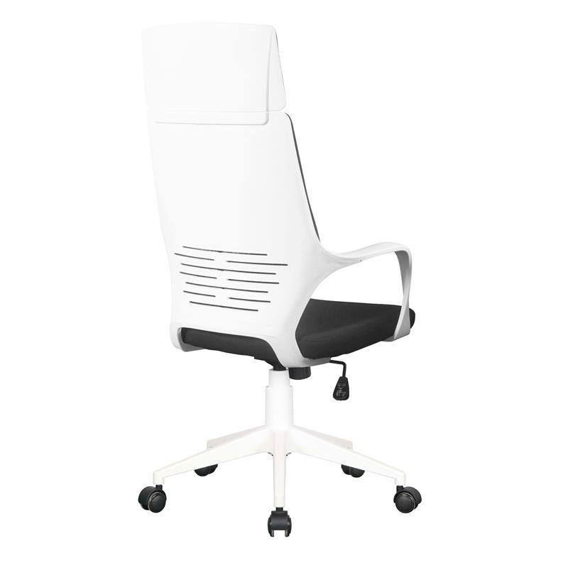 Schreibtischstuhl schwarz weiß  Bürostuhl Chefsessel Drehstuhl Schwarz/Weiß 0898H/2252
