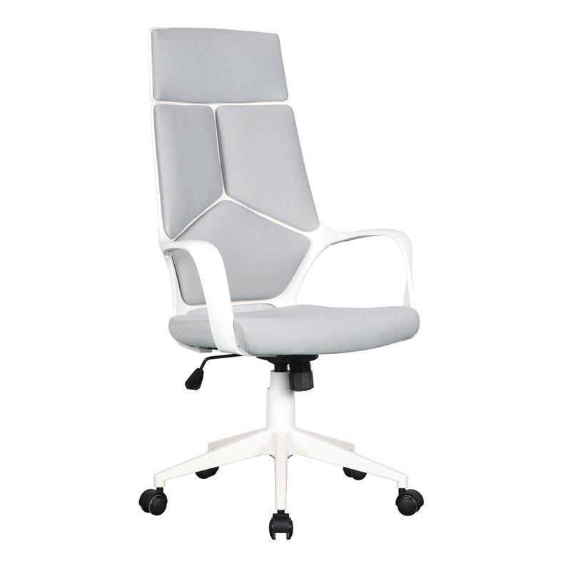 Bürostuhl weiß  Bürostuhl Chefsessel Drehstuhl Grau/Weiß 0898H/2253