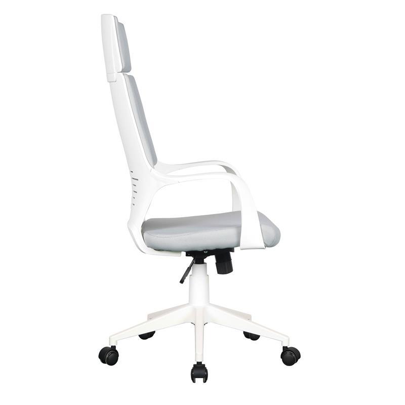 Bürostuhl Chefsessel Drehstuhl Grau/Weiß 0898H/2253
