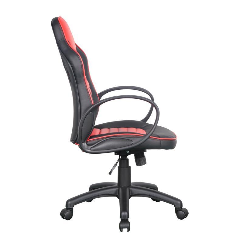 Racing Optik Bürostuhl Gaming Schreibtischstuhl Drehstuhl Schwarz/Rot 0936M/2256