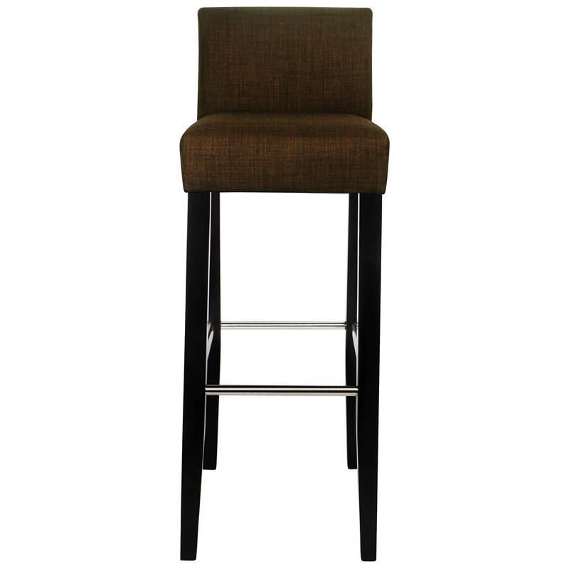 barhocker bistrohocker massiv buche stoff dunkelbraun bar. Black Bedroom Furniture Sets. Home Design Ideas