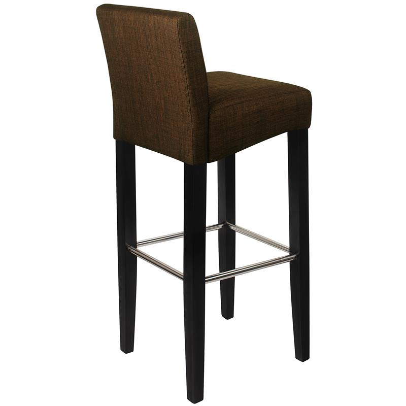 barhocker bistrohocker massiv buche stoff dunkelbraun bar 01 bs 2481. Black Bedroom Furniture Sets. Home Design Ideas