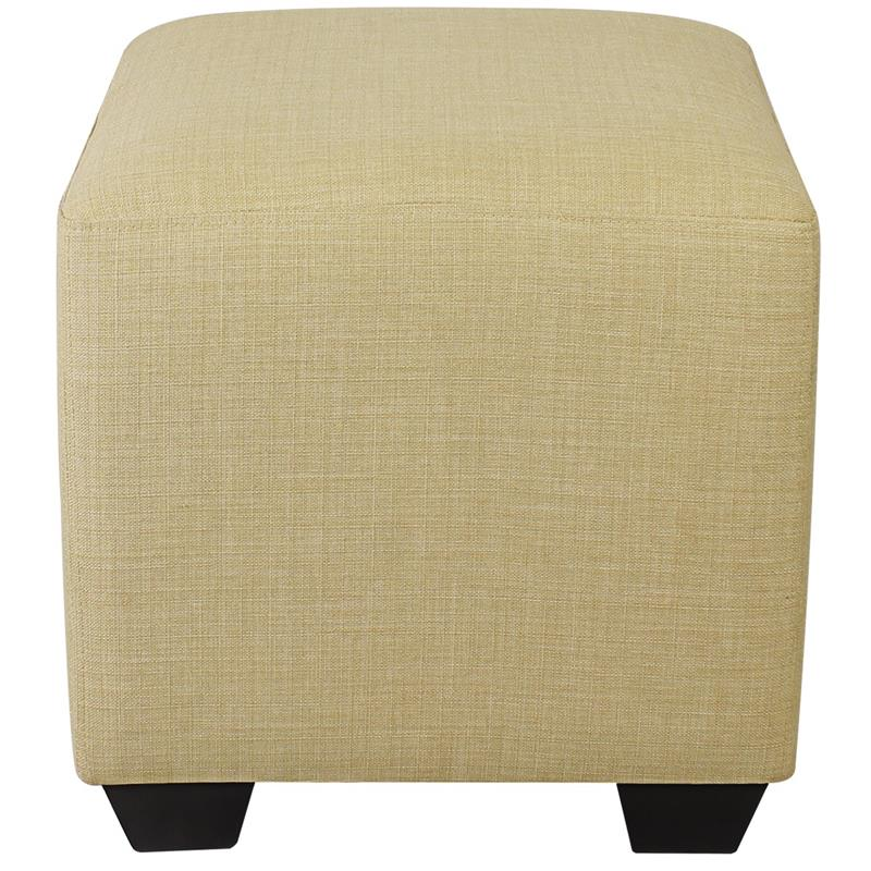 Sitzwürfel Sitzhocker Gepolstert Beige 2001A/2486