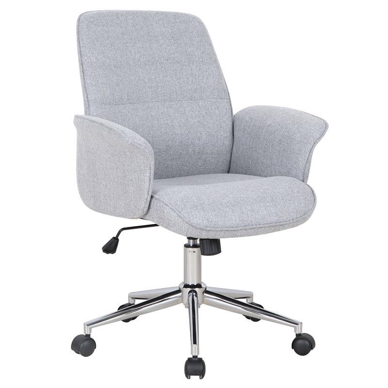 Bürostuhl weiß stoff  Bürostuhl Drehstuhl Stoff Grau 0704M/2488