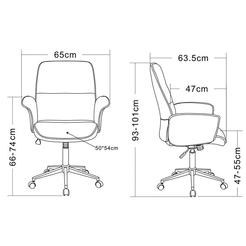 Bürostuhl skizze  Bürostuhl Drehstuhl Stoff Grau 0704M/2488