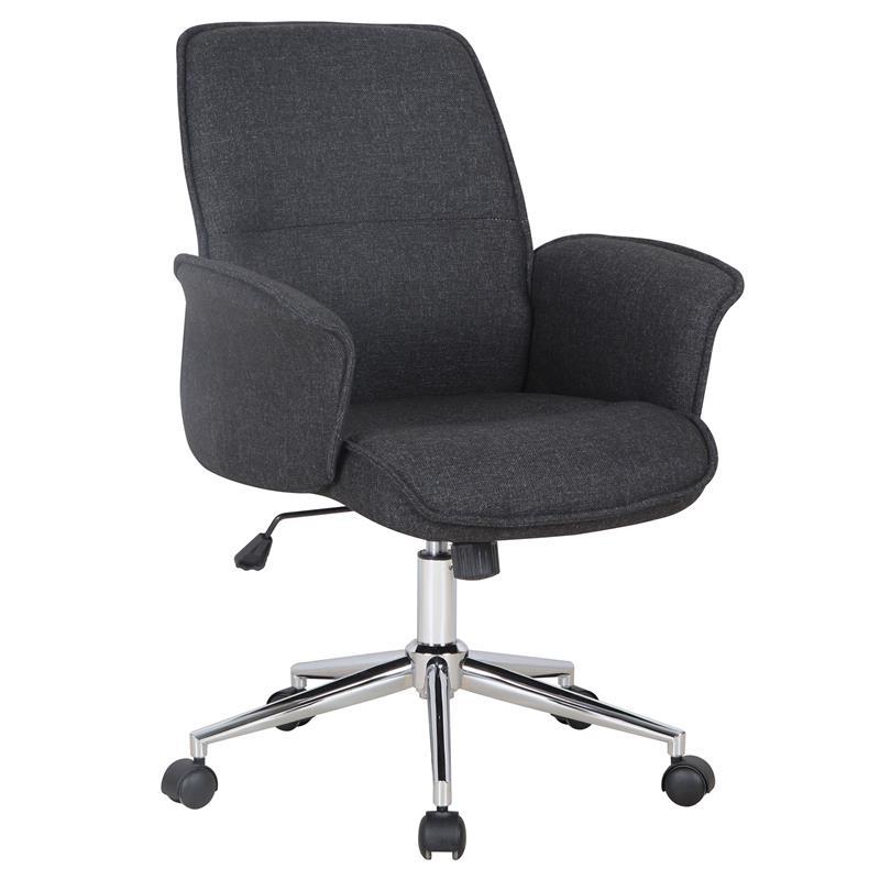 b rostuhl drehstuhl stoff schwarz 0704m 2489. Black Bedroom Furniture Sets. Home Design Ideas