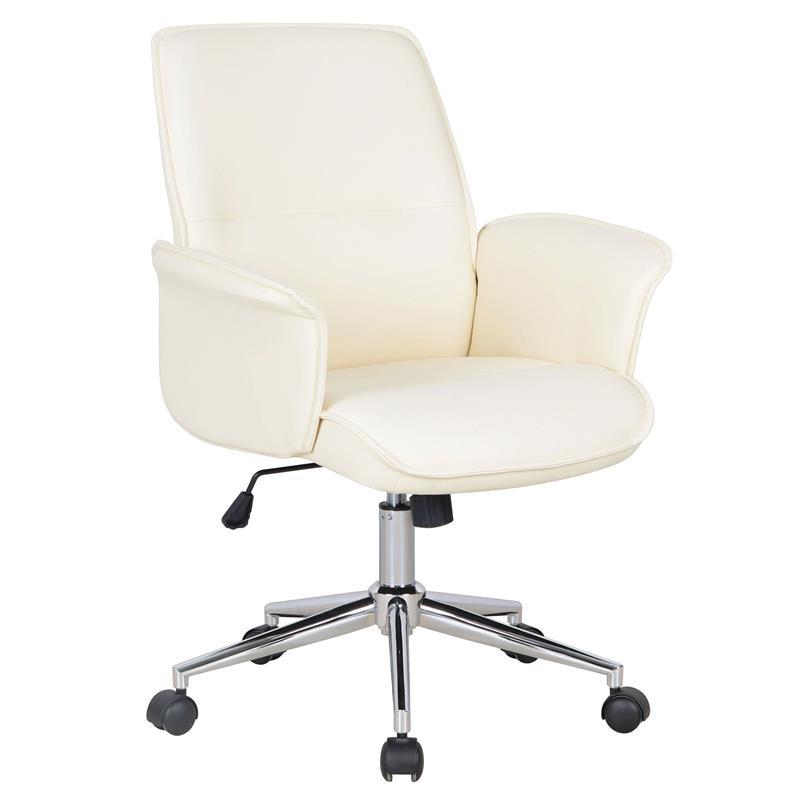 b rostuhl drehstuhl schreibtischstuhl kunstleder elfenbein wei 0704m 2491. Black Bedroom Furniture Sets. Home Design Ideas