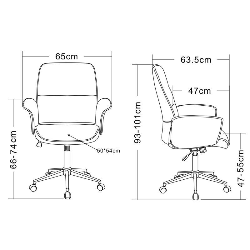 Bürostuhl skizze  Bürostuhl Drehstuhl Stoff Braun 0704M/3675