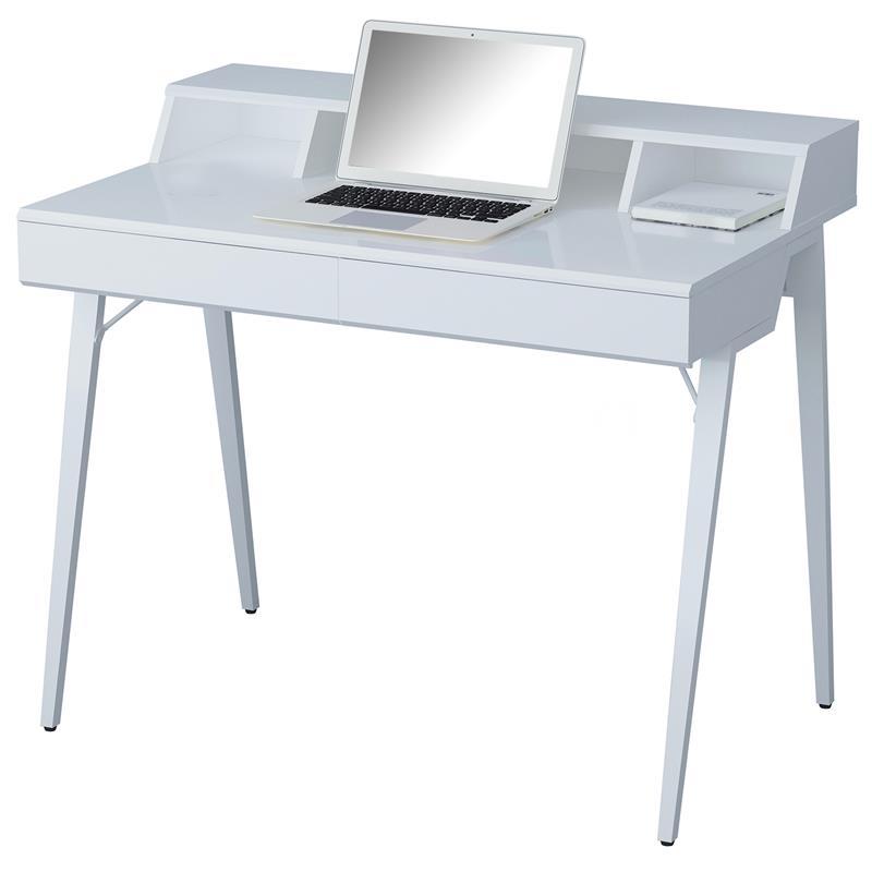 computerschreibtisch schreibtisch hochglanz wei ct 3580n 4460. Black Bedroom Furniture Sets. Home Design Ideas