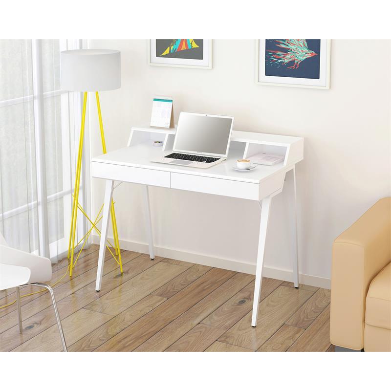 Scrivania porta pc bianco lucido ct 3580n 4460 - Porta computer bianco ...