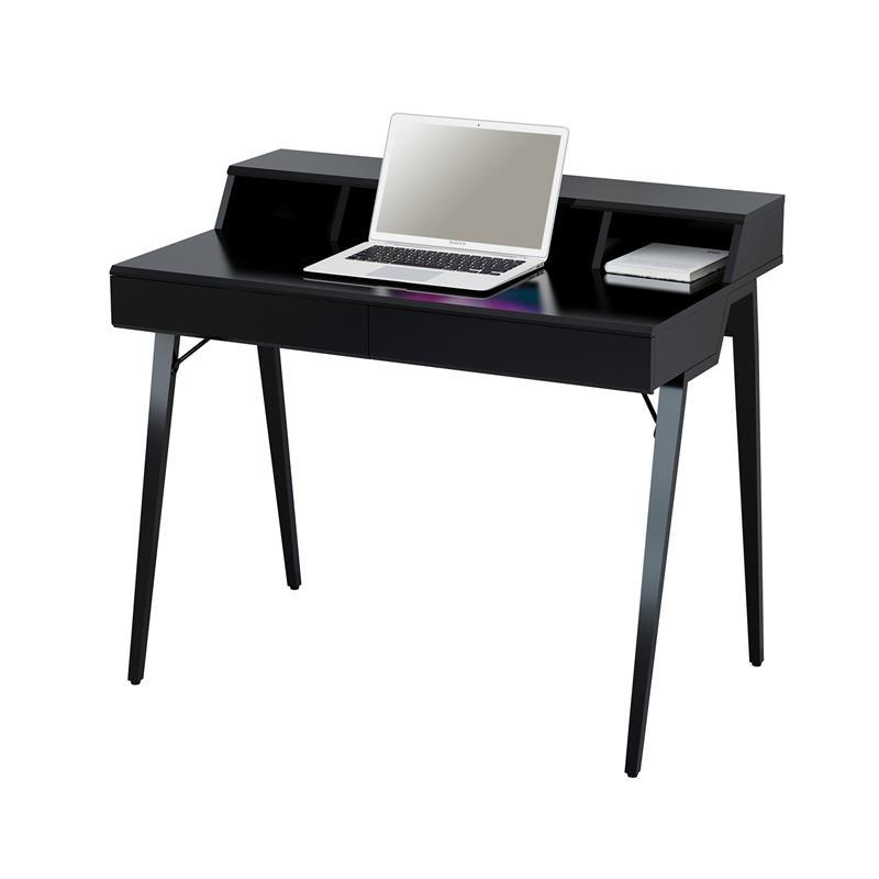 computerschreibtisch schreibtisch hochglanz schwarz ct 3580n 4461. Black Bedroom Furniture Sets. Home Design Ideas