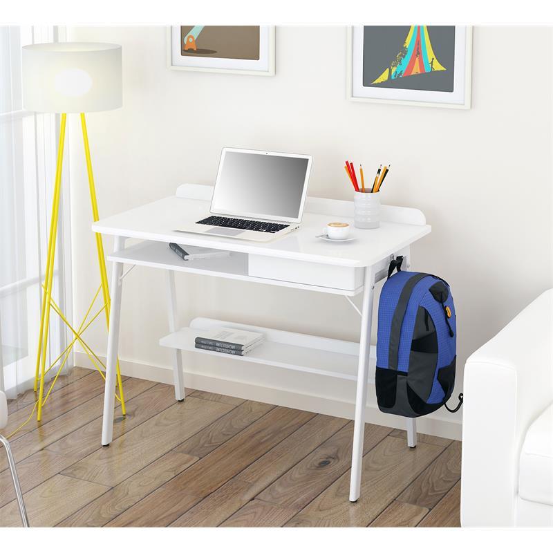 Scrivania porta pc bianco lucido CT-3581/4463