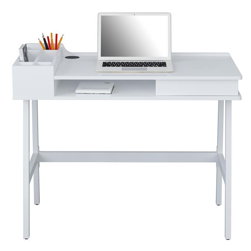 computerschreibtisch schreibtisch hochglanz wei ct 3582 4466. Black Bedroom Furniture Sets. Home Design Ideas