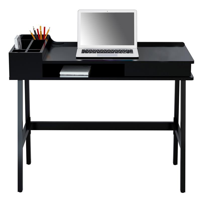 Computerschreibtisch Schreibtisch Hochglanz Schwarz Ct 35824467