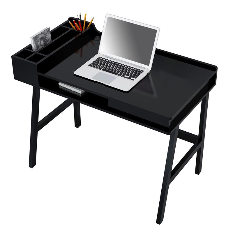 sixbros computerschreibtisch schreibtisch hochglanz schwarz ct 3582 4467 ebay. Black Bedroom Furniture Sets. Home Design Ideas