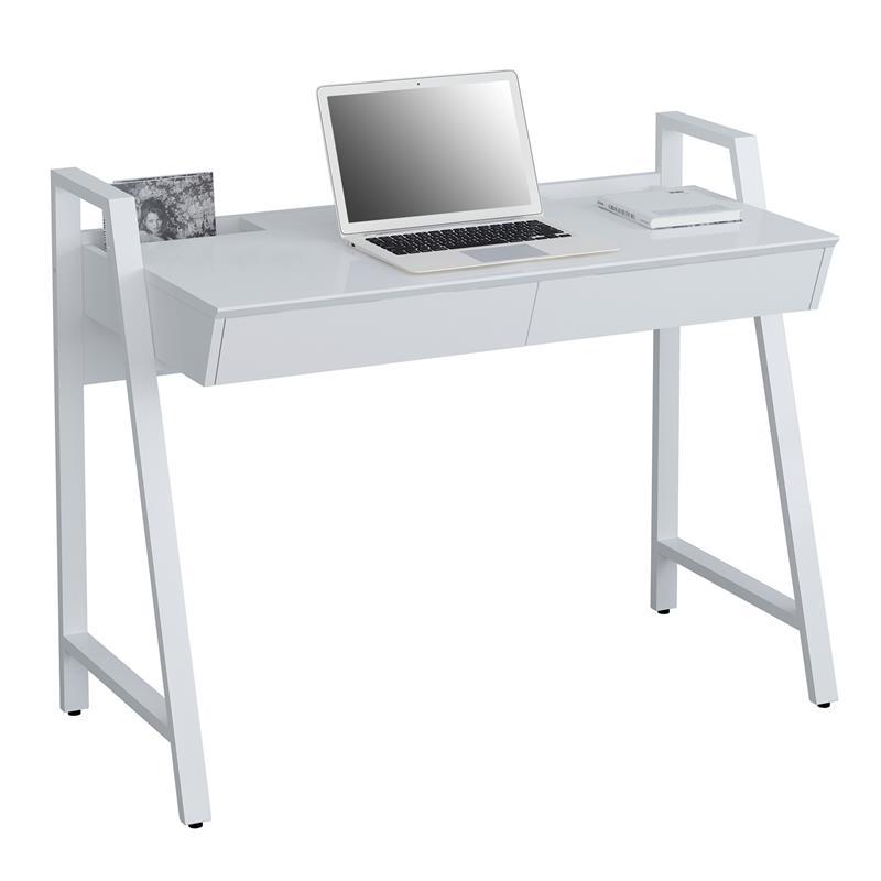 sixbros computerschreibtisch schreibtisch hochglanz wei ct 3583n 4469 ebay. Black Bedroom Furniture Sets. Home Design Ideas
